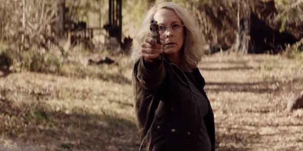 Laurie Strode practicing her marksmanship