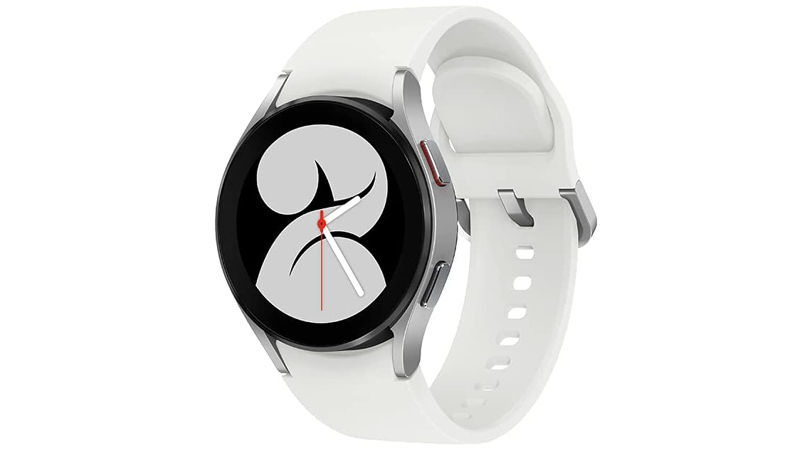 An image of the Galaxy Watch 4 in white