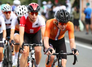 OYAMA JAPAN JULY 25 Anna van der Breggen of Team Netherlands during the Womens road race on day two of the Tokyo 2020 Olympic Games at Fuji International Speedway on July 25 2021 in Oyama Shizuoka Japan Photo by Michael SteeleGetty Images