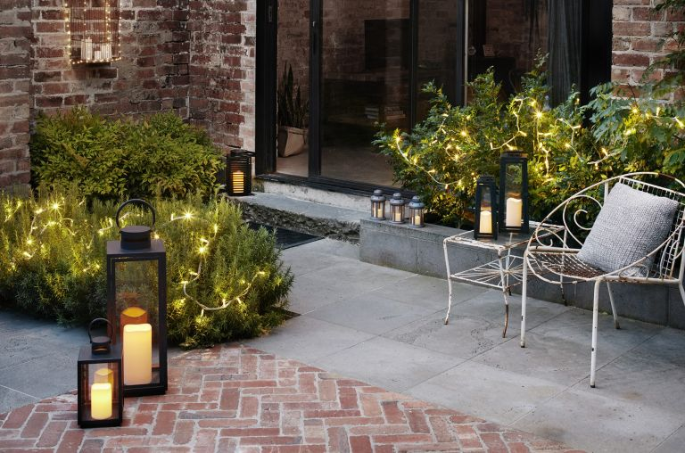 cheap garden ideas: patio with lighting from LIghts4fun
