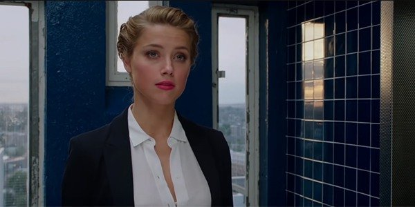 Amber Heard in a suit
