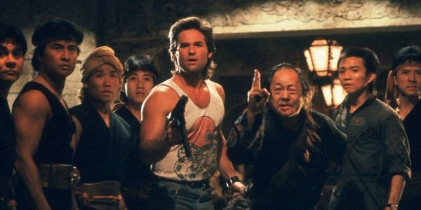 Jack Burton Kurt Russell Holding Gun Big Trouble In Little China