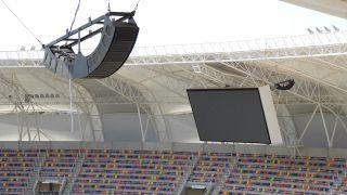 Dante audio at Estadio Unico Madre de Ciudades