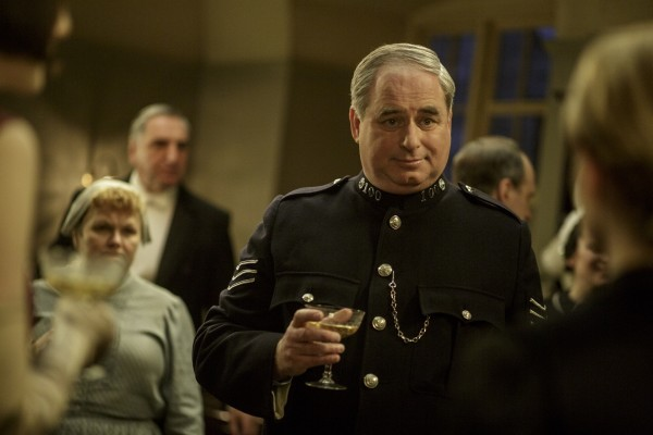 The Sergeant with a glass of champagne