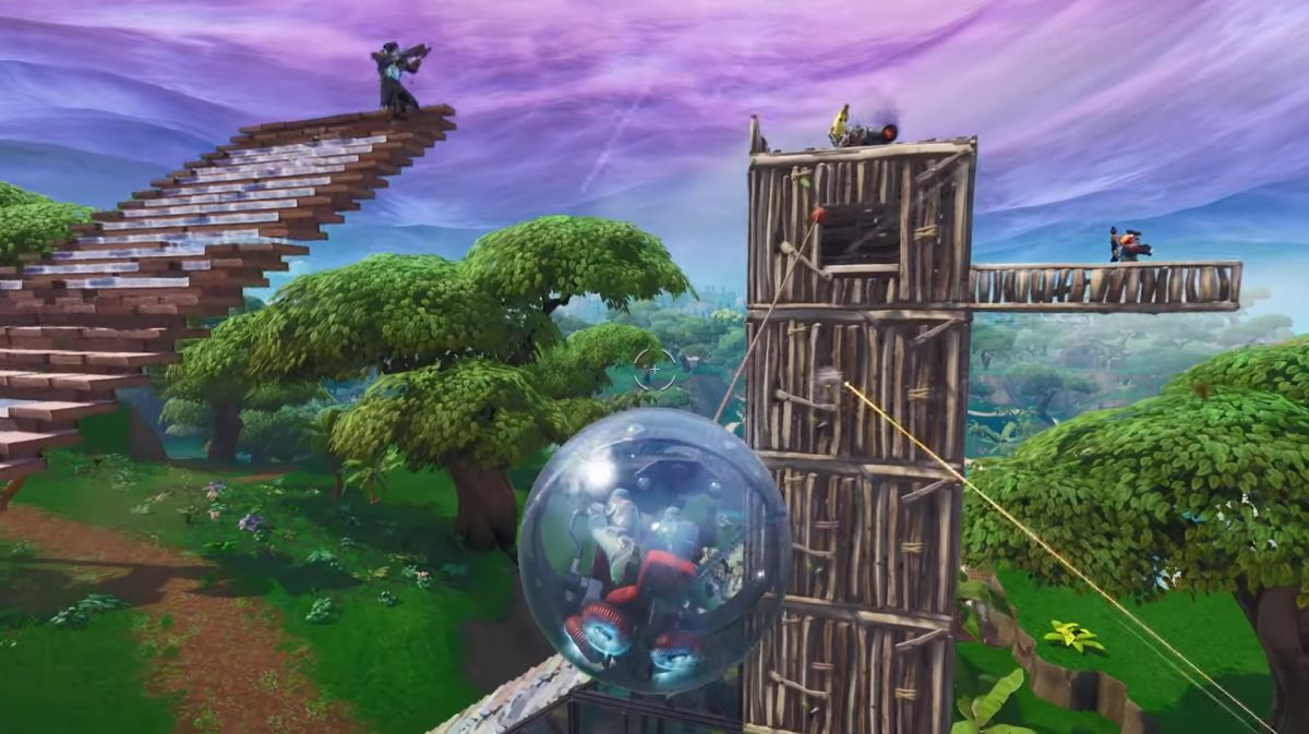 Fortnite's giant hamster ball has been temporarily removed