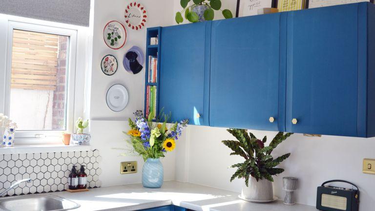 blue kitchen transformation
