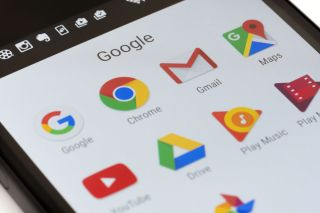 Google's Android apps displayed on an Android smartphone.