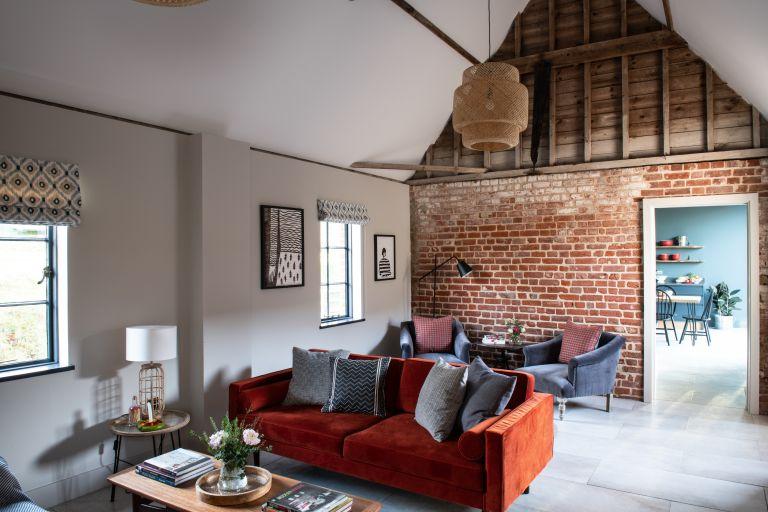 pandemic spending: Living room in barn conversion