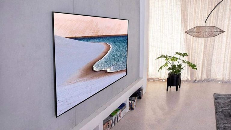 best tv: LG OLED-GX in living room