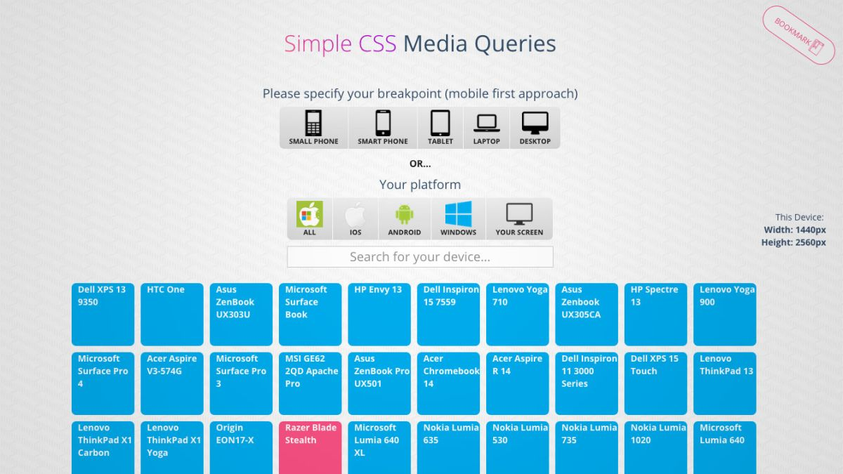 Online tool takes the guesswork out of CSS media queries
