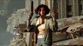 An image of assassin Julianna from the game Deathloop.
