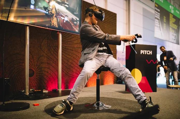 Strap on these futuristic flip-flops to run around in VR   PC Gamer