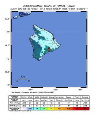 hawaii shake map