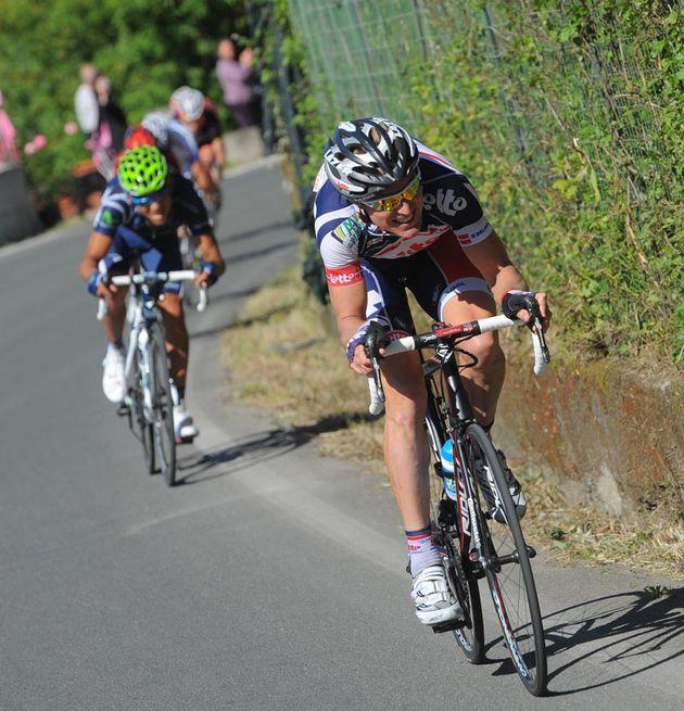 Lars Bak attacks, Giro d'Italia 2012, stage 12