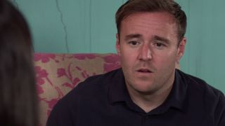 Tyrone Dobbs is stunned to realise he has proposed to Alina.