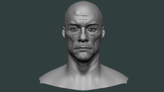 3D sculpture of a man's head