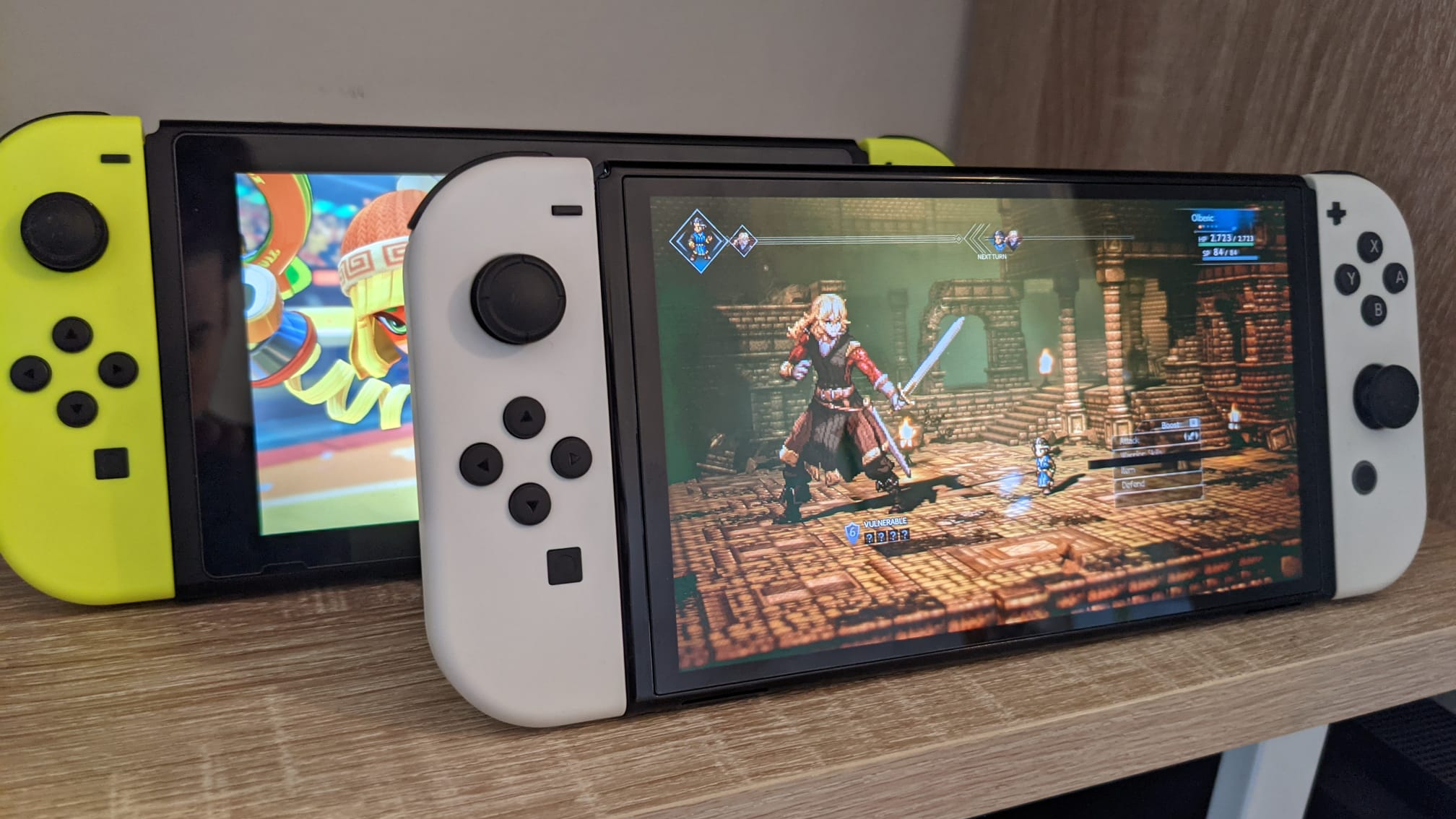 Nintendo Switch OLED side by side with old Switch