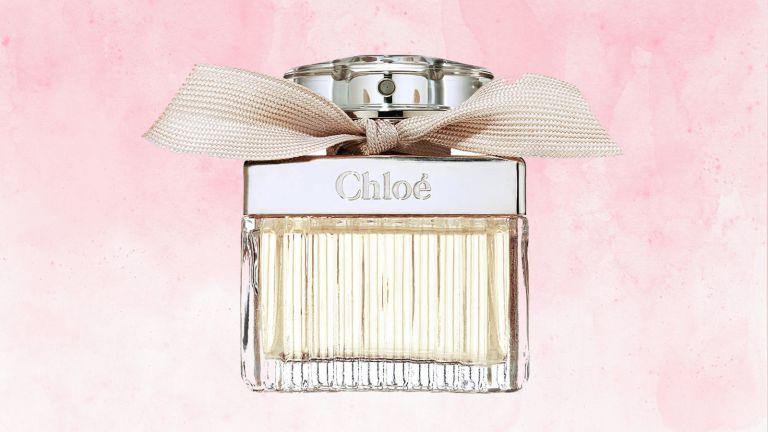 Chloé perfume signature eau de parfum on pink background