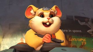 Hammond, the newest Overwatch hero, who happens to be a hamster in a giant gun-studded ball.