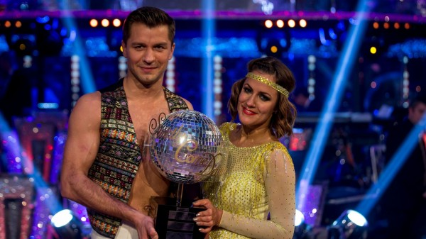 Strictly winners Caroline Flack and Pasha Kovalev with the glitterball