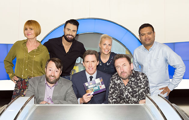 Would I Lie To You? Episode: n/a (No. 2) - Picture Shows: Mary Portas, David Mitchell, Rylan Clark-Neal, Rob Brydon, Sara Pascoe, Lee Mack, Paul Sinha