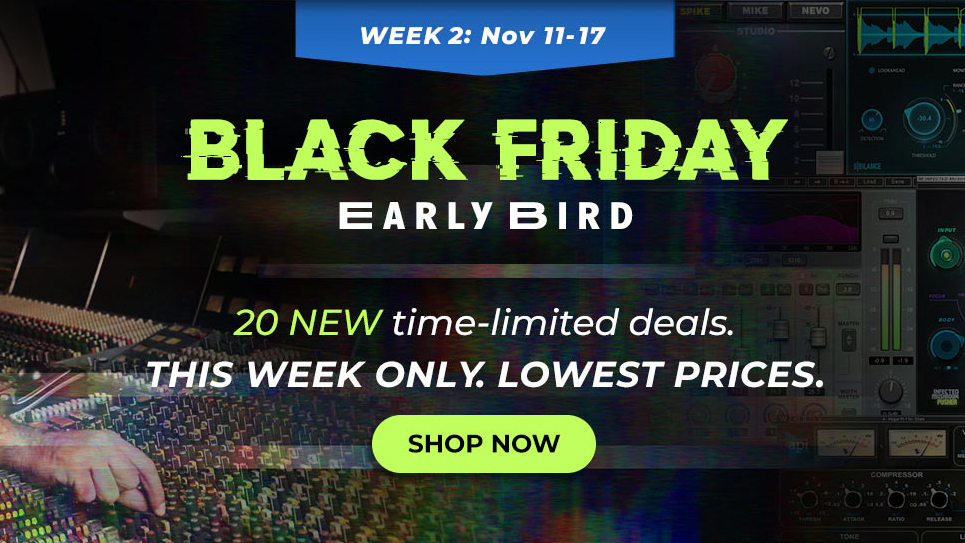 Week 2 Of The Waves Black Friday Early Bird Plugin Deals Have Landed Up To 91 Off 20 Top Plugins Musicradar
