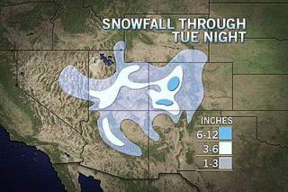 snowfall December 2012