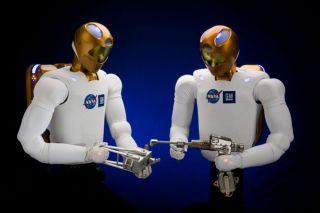 Dexterous humanoid robots were developed to work side-by-side with humans on Earth and in space.