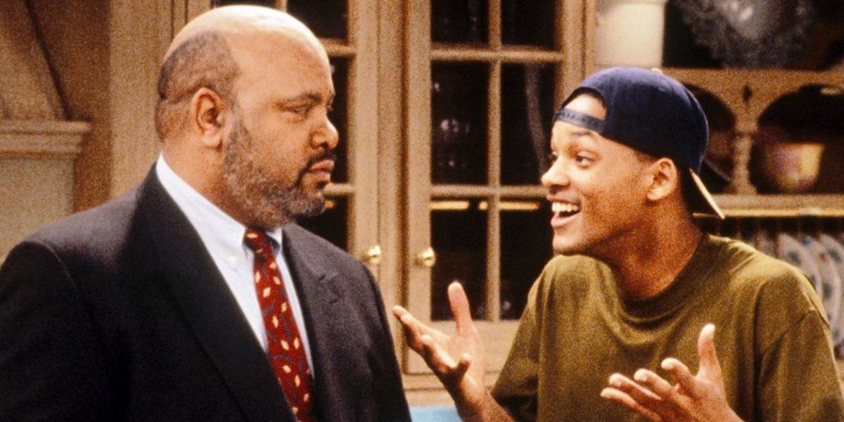 James Avery as Philip Banks and Will Smith as himself in The Fresh Prince of Bel-Air
