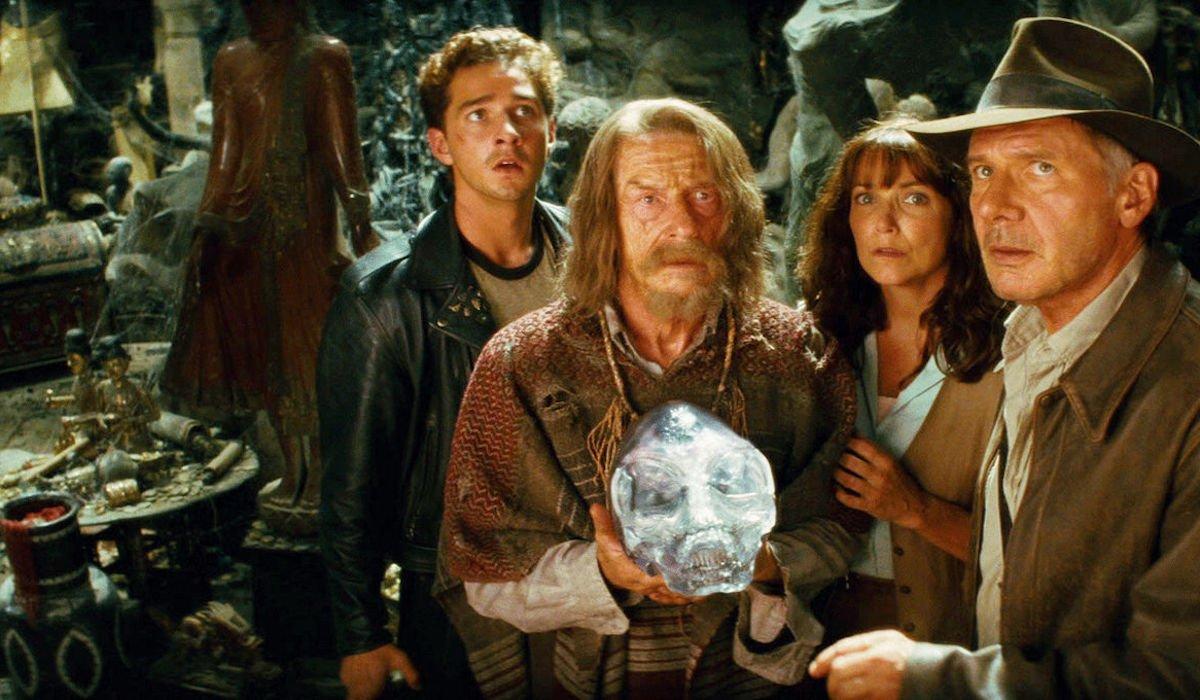 Shia LaBeouf, John Hurt, Karen Allen and Harrison Ford in Kingdom of the Crystal Skull