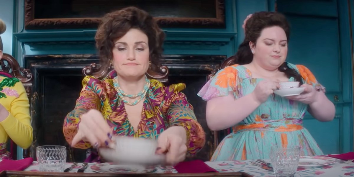 Maddie Baillio as Anastasia (on the right) in Cinderella.
