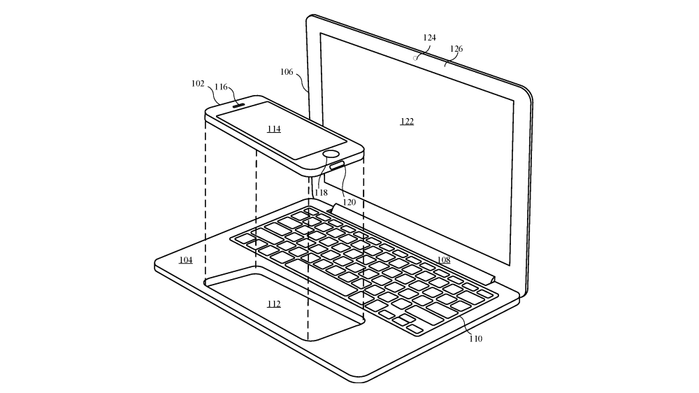 Apple patent reveals MacBook-like dock for iPhones and iPads