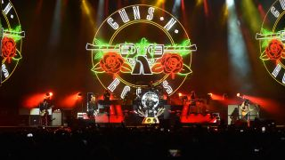 A picture of Guns N' Roses performing live