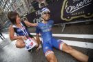 Nacer Bouhanni after winning on stage four of the 2014 Giro d'Italia