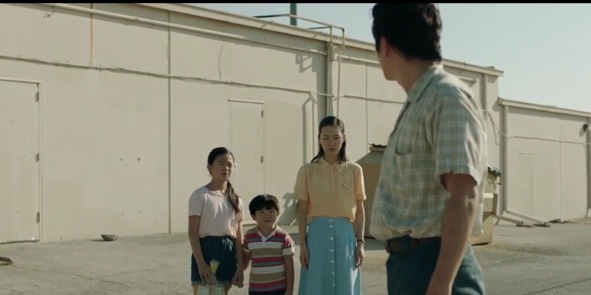 Steven Yeun, Yeri Han, Noel Cho, and Alan S. Kim in Minari