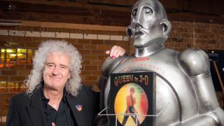 Brian May with a Cyberman