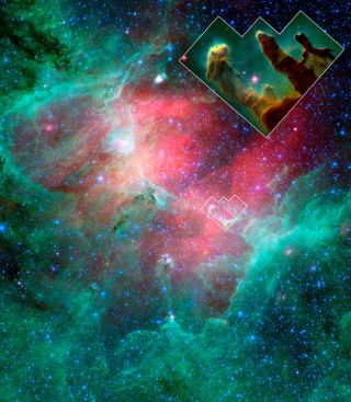 Pillars of Creation Toppled By Stellar Blast