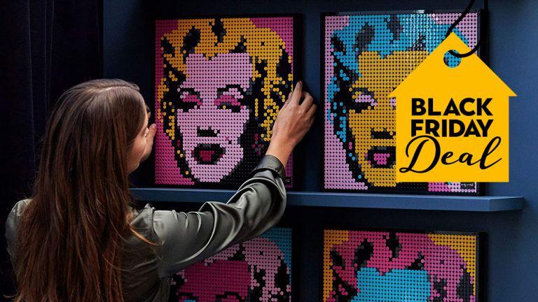Lego Black Friday: LEGO Art 31197 Art Andy Warhol's Marilyn Monroe Collectors DIY Poster on wall