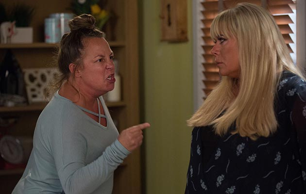 EastEnders Karen Taylor confronts Sharon