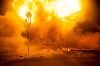 Launch Pad After Antares Rocket Explosion