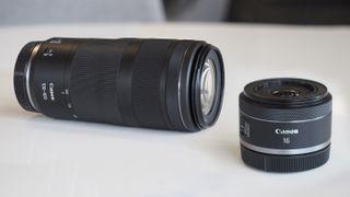 Canon RF 16mm Canon RF 100-400mm