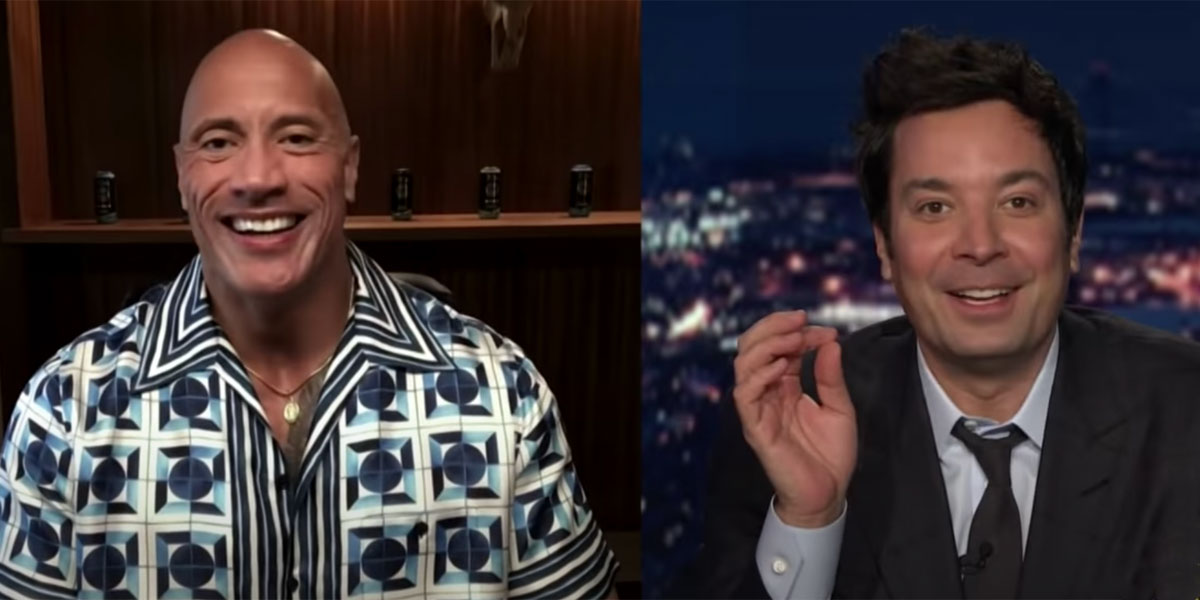 The Rock and Jimmy Fallon side-by-side The Tonight Show 2021