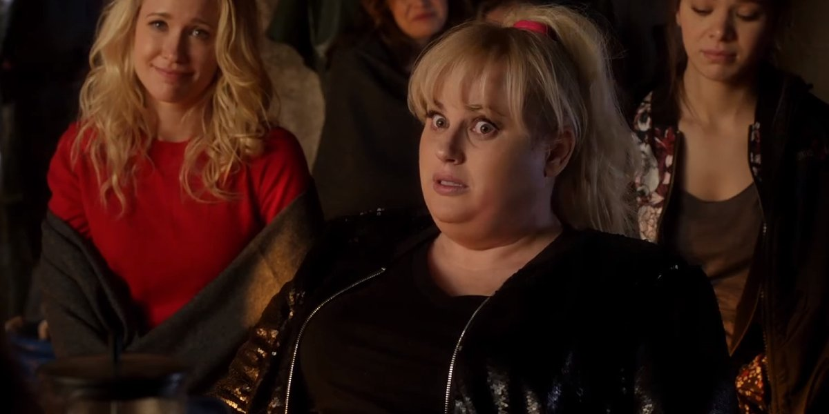 Pitch Perfect 2 Rebel Wilson pulls a surprised face