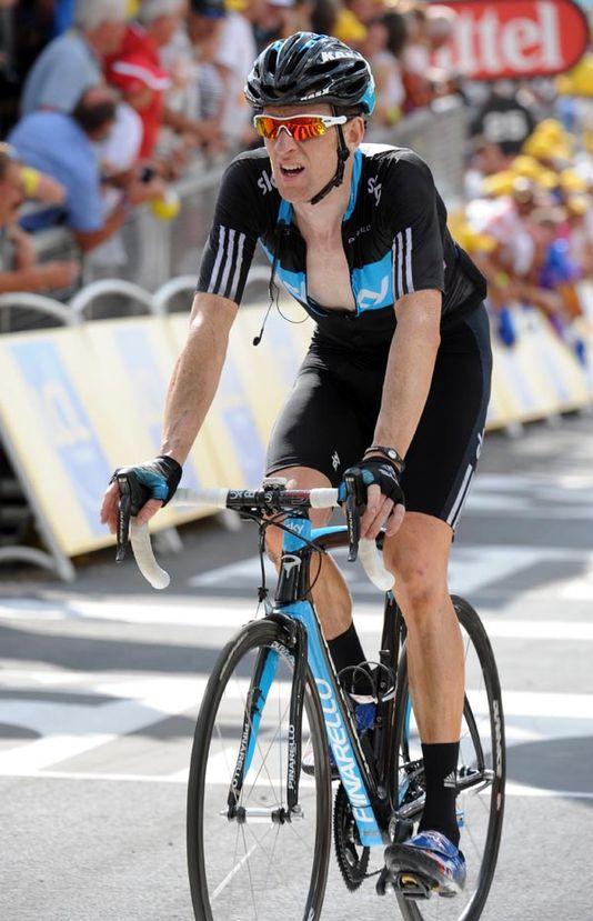 Bradley Wiggins finishes, Tour de France 2010, stage 8