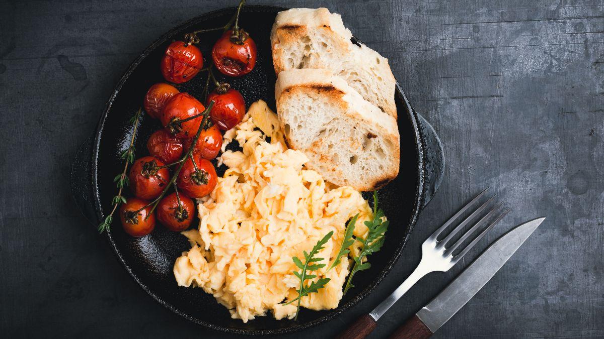 Scrambled eggs is on the menu