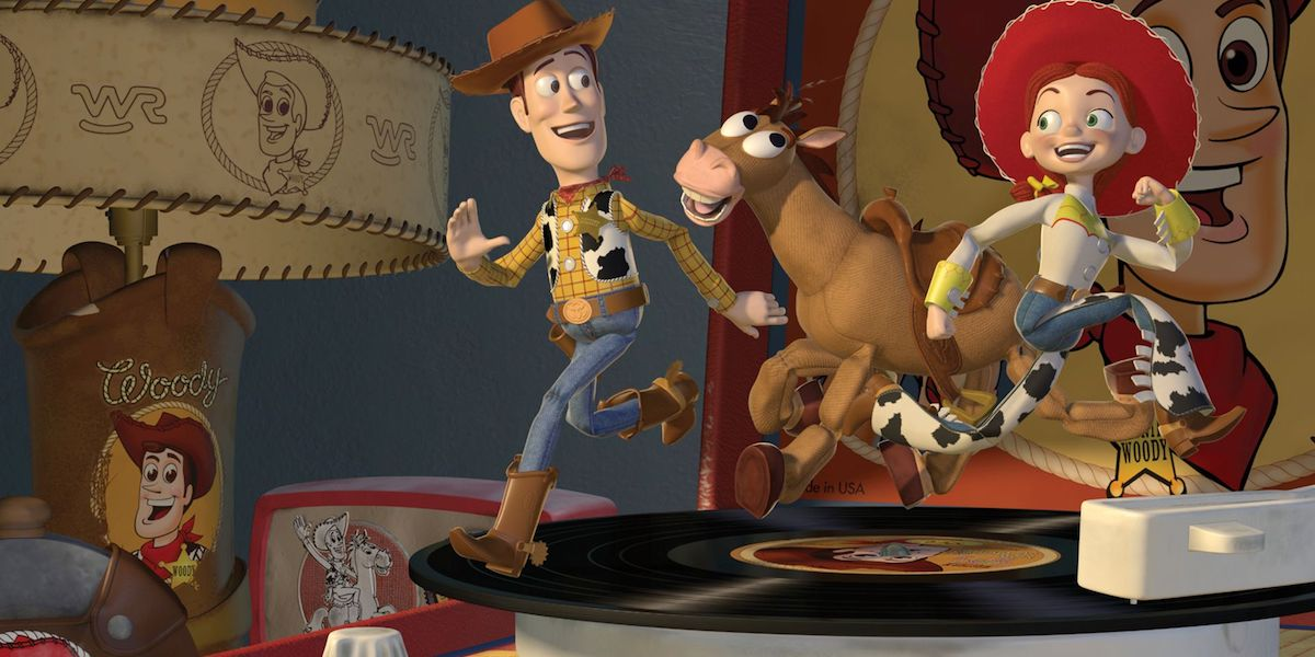 Woody, Bullseye and Jessie in Toy Story 2