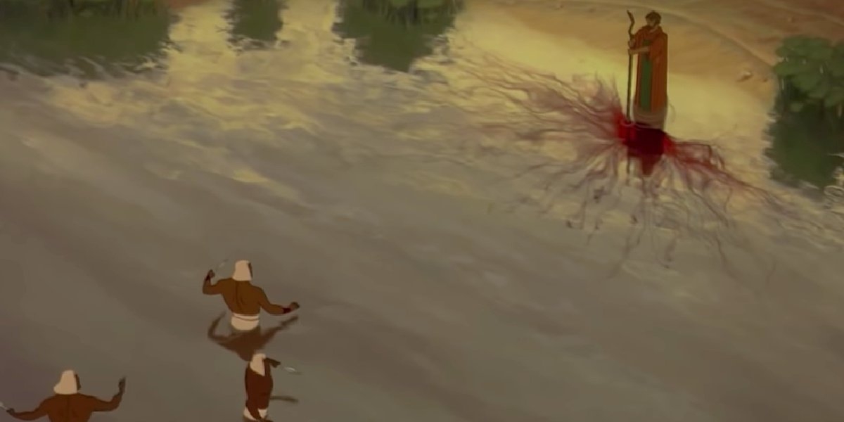 Moses doing the River of Blood in the Prince of Egypt.