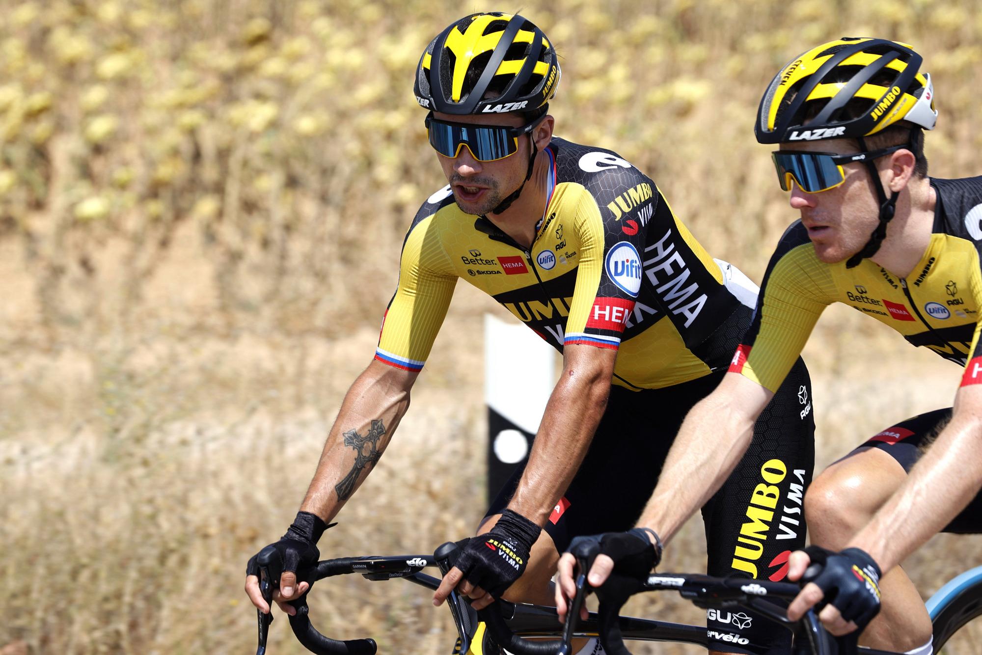 Vuelta Espana 2021 - 76th Edition - 5th stage Tarancon - Albacete 184,4 km - 18/08/2021 - Primoz Roglic (SLO - Jumbo - Visma) - photo Luis Angel Gomez/BettiniPhoto©2021
