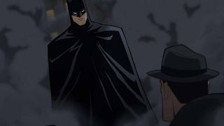 Batman appearing to some guy in The Long Halloween animated movie