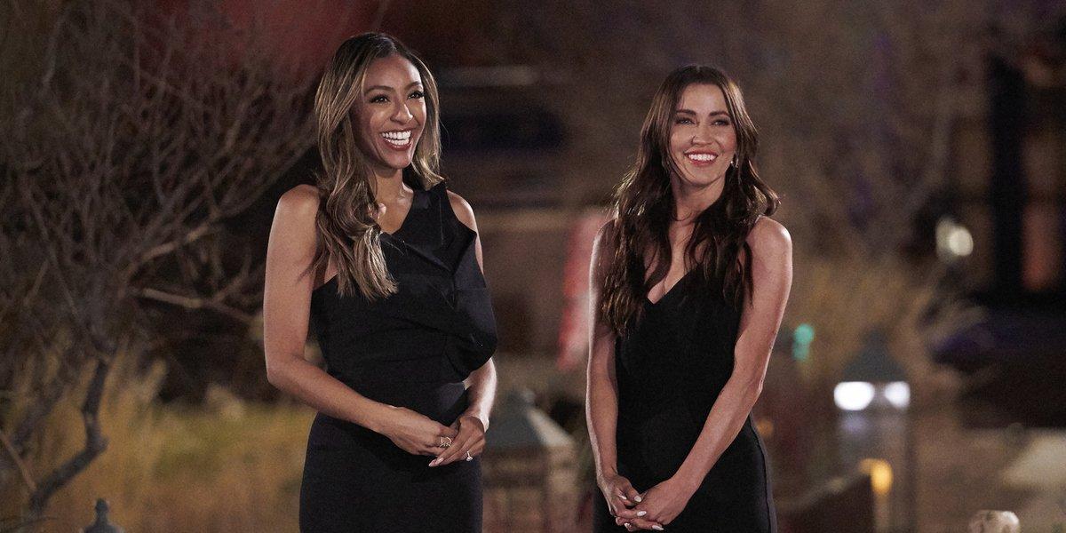 the bachelorette season 17 hosts tayshia adams kaitlyn bristowe abc